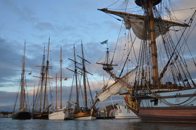 The Downrigging Fleet at Dawn, photo by Chris Cerino