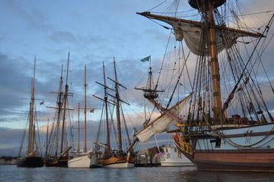 The Downrigging Fleet at Dawn, photo by Chris Cerino